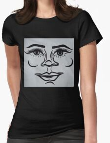 Clean, modern portrait Womens Fitted T-Shirt
