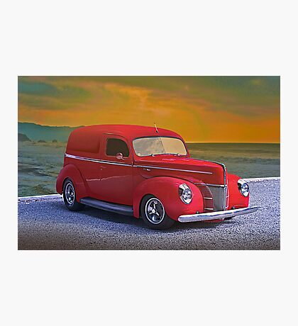 1940 Ford Panel Truck Photographic Print