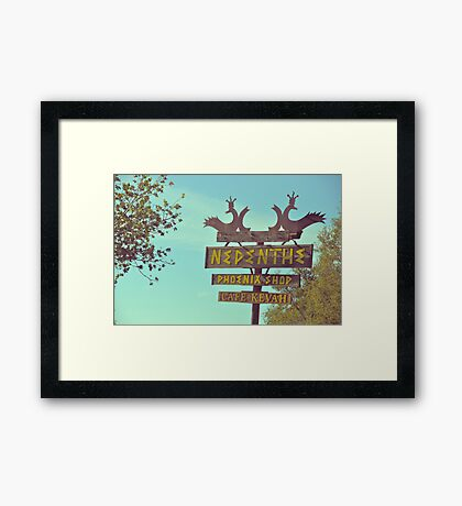 Nepenthe Framed Print