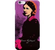 Florence Nightingale with Andy Warhol Pop Art Style iPhone Case/Skin
