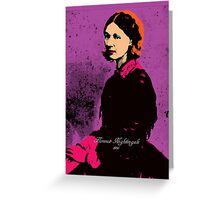 Florence Nightingale with Andy Warhol Pop Art Style Greeting Card