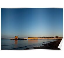 Queenscliff Black Lighthouse and Pier Poster