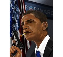 Barack Obama: Commander in Chief of Coolness & Badassery Photographic Print