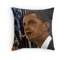 Barack Obama: Commander in Chief of Coolness & Badassery Throw Pillow