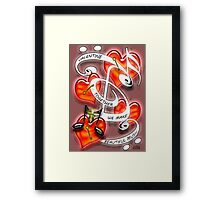 Together We Make Beautiful Music Poster Framed Print