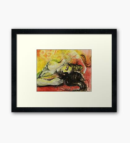 Ophelia in conversation with Saint Jude Thaddeus. Framed Print