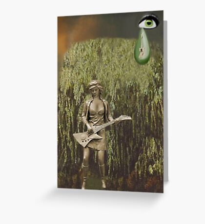✌☮ WHEEPING WILLOW TREE- WHILE MY GUITAR GENTLY WEEPS ✌☮  Greeting Card
