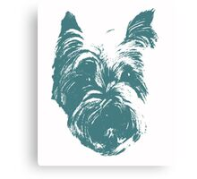 Westie Wonder Graphic ~ Teal Canvas Print