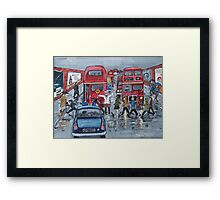 Lollipop Lady 1960s Framed Print