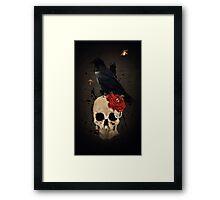 Nevermore - Crow Digital Painting by Amanda Jeffrey Framed Print