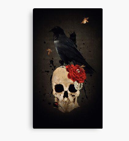 Nevermore - Crow Digital Painting by Amanda Jeffrey Canvas Print