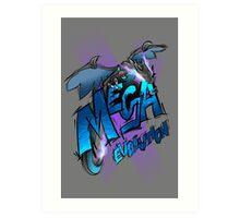 Mega Charizard X Art Print