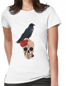 Nevermore - Crow Digital Painting by Amanda Jeffrey Womens Fitted T-Shirt