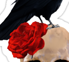 Nevermore - Crow Digital Painting by Amanda Jeffrey Sticker