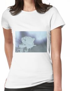 abstract flower Womens Fitted T-Shirt