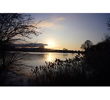 Tring Reservoir Sunset Photographic Print