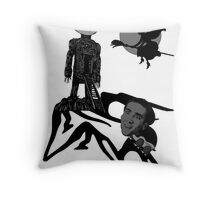 Witches Cry When Turtles Burn! -- Nicholas Cage / The Wicker Man Throw Pillow