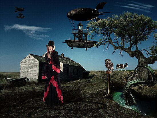 Thursday - Surrealistic Steampunk Photo Manipulation by Galen Valle
