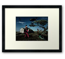 Thursday - Surrealistic Steampunk Photo Manipulation Framed Print