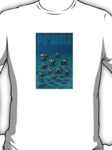 Shoal of Daft Piranha with old Duffer Fish T-Shirt