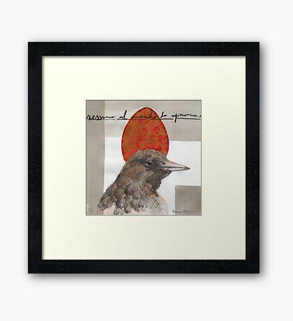 Red Red Egg Framed Print