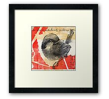 Asian Red Feathers Framed Print