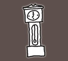 Cartoon Grandfather Clock [Big] Kids Clothes
