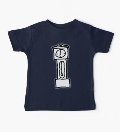 Cartoon Grandfather Clock [Big] Baby Tee