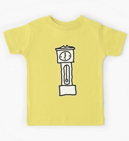 Cartoon Grandfather Clock [Big] Kids Tee