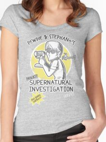 Pewdie & Stephano's Investigation Service Women's Fitted Scoop T-Shirt