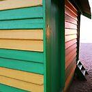Beach box sunset by Meg Blake