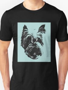 Westie Wonder Graphic ~ black and teal T-Shirt