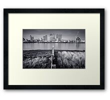 Sitting on the fence (is a surefire way of getting splinters) @londonlights Framed Print