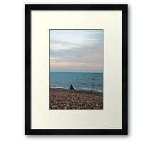 Staring at the sea Framed Print
