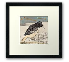 Black Bird Singing Framed Print