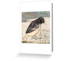 Black Bird Singing Greeting Card