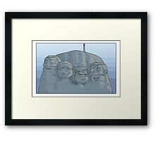 Solid Rushmore Framed Print