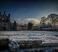 Kirkstall Abbey Snowscape by Tim Waters