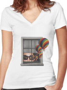 Untitled 4 Women's Fitted V-Neck T-Shirt