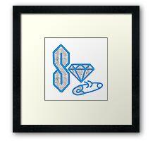 diamond baby Framed Print