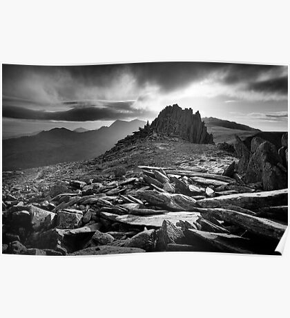 Castle of the Winds, Glyder Fach, Snowdonia. Poster