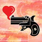 Pistol Blowing Heart Bubbles by Zoo-co