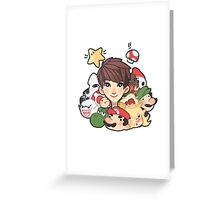 I Love Mario Greeting Card