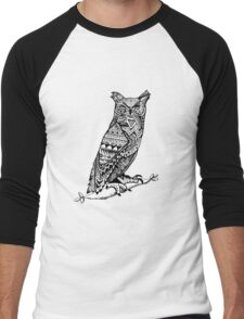 Aztec Owl Men's Baseball ¾ T-Shirt