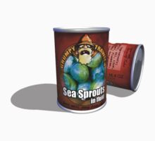 Grumpy Trawler Tinned Sea Sprouts in Fluid YUMMY Kids Tee