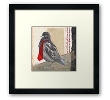 Too Busy To Fly Framed Print