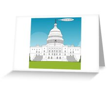 capitol thought comic Greeting Card