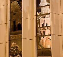 Reflection 5. Mathias Kirche Budapest Hungary by Ilona Barna