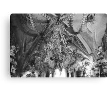 Ceiling of the Ossuary Canvas Print