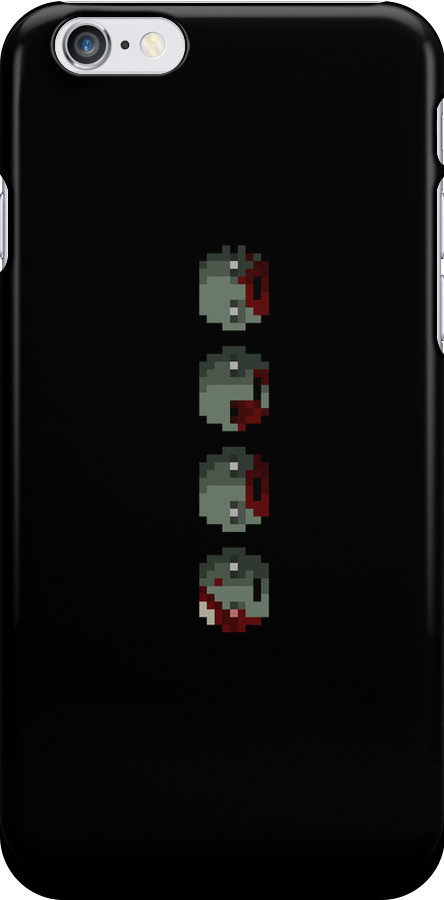 Zombie Faces Pixels by andersonOllie